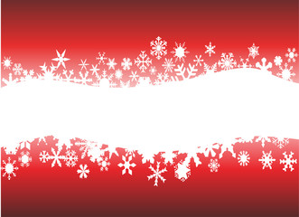 Snowflake background with place for text