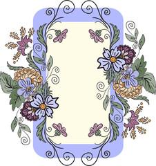vertical floral frame