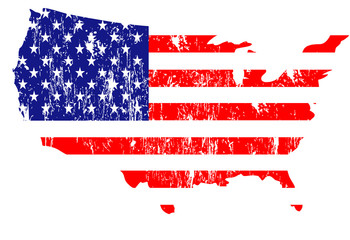 Set of classics USA flags