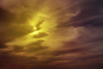 sun on storm sky