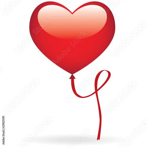 un ballon en forme de coeur flottant dans les airs fichier vectoriel libre de droits sur la. Black Bedroom Furniture Sets. Home Design Ideas