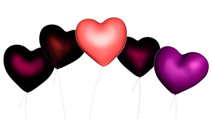 Heart-Shaped Valentine's Day Balloons