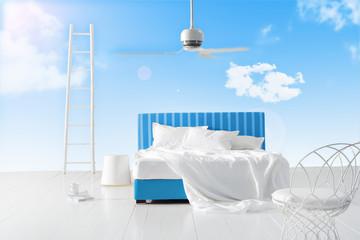 surreal sky bedroom