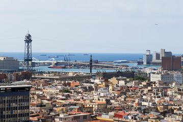 Vista general de Barcelona y el puerto
