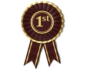 Dark red ribbon award