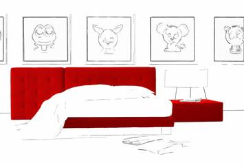 minimal bed artistic backgorund