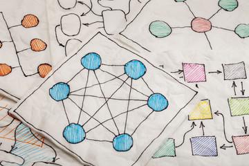 network diagrams - napkin doodle