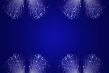 Blue fiber optic background.