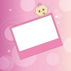 Tajeta postal bebe niña