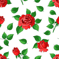 Flower background, roses