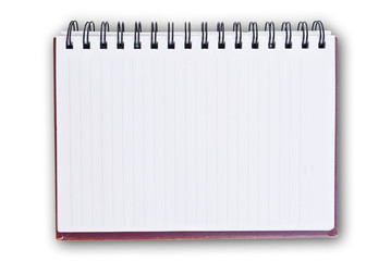 white paper of notebook.
