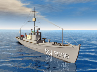 Anti Submarine Chaser Ship