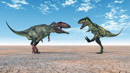 Dinosaurs Bistahieversor and Giganotosaurus