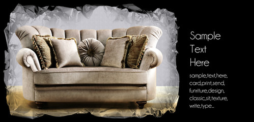 baroque couch background