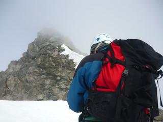 Alpinistes en route pour le sommet, en Vanoise