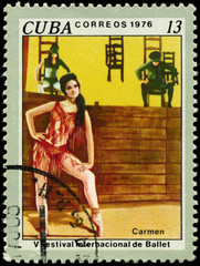 CUBA - CIRCA 1976 Carmen