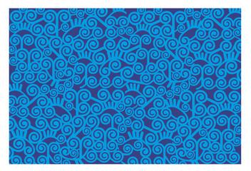 estampado circulos azul