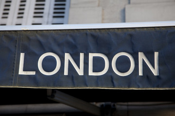 Close up of London Sign