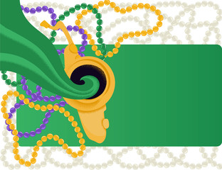 Mardi Gras jazz festival - invitation card