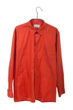 Creased the orange shirt