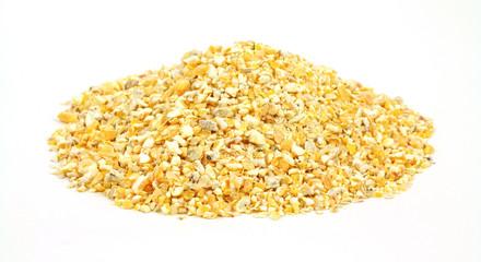 Cracked corn bird food