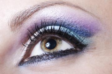 Violet and blue make-up