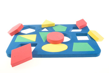 Children's game with geometric shapes