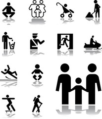 Set icons - 178. Pictographs of people