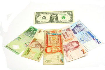 US dollar is center of asian currencies flow.