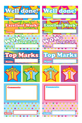 Classroom Reward Vector Stickers