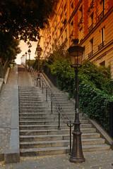 Paris; escalier de la butte Montmartre