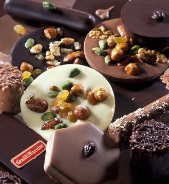 Chocolats et Mendiants au chocolat