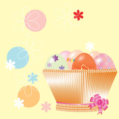 Nice basket with Easter eggs