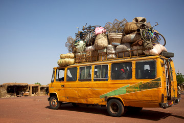 Loaded African min van