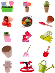 Collage Montage of Garden Items