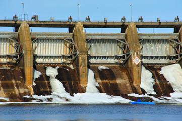 Winter on the Petenwell Dam in Wisconsin