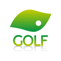 logo picto internet web label golf green pelouse golfeur balle