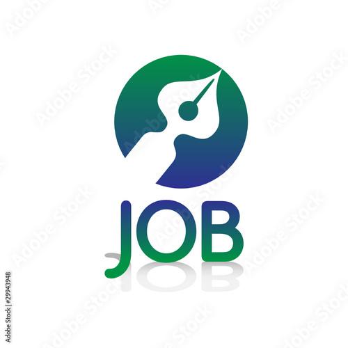 u0026quot logo picto internet web label job emploi travail cv plume stylo u0026quot  fichier vectoriel libre de