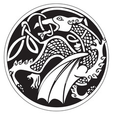 A druidic astronomical symbol of a dragon