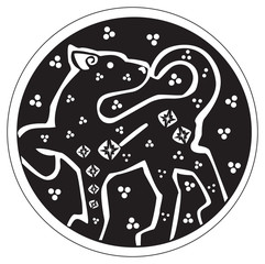 A druidic astronomical symbol of a panther
