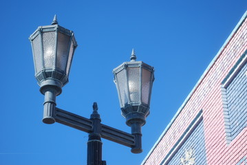 Street lights in old part of town