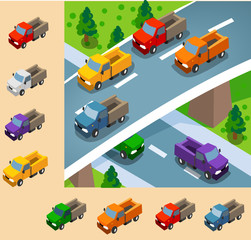 Truck Isometric set