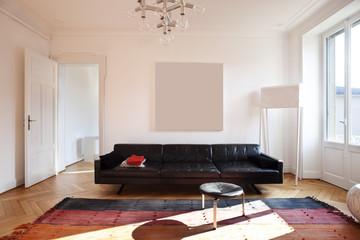 nice apartment refitted, living-room furniture retro