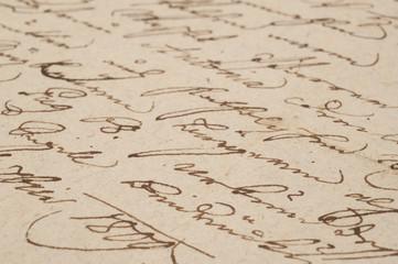 Vintage handwriting