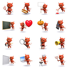 3d Wicked Devil collection of icons