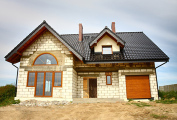 A newly constructed house