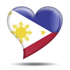 Corazon brillante bandera Filipinas