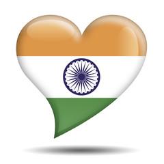 Corazon brillante bandera India