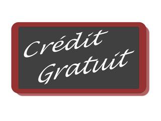 PANNEAU CREDIT GRATUIT