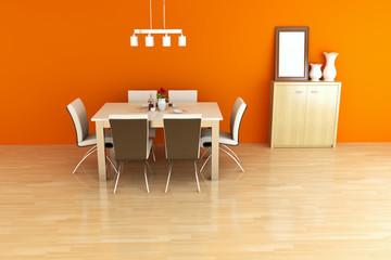 The 3d rendering indoor restaurant